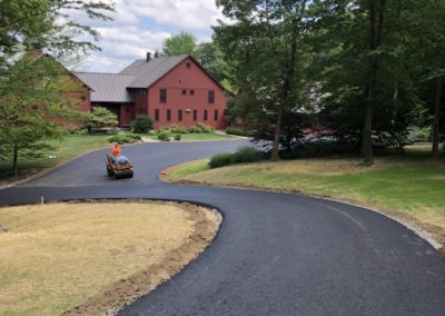 Binder asphalt driveway for future oil and stone