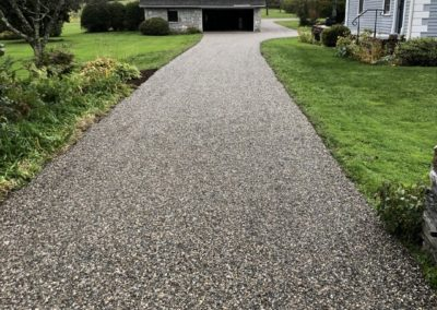 Grey Oil and Stone Driveway