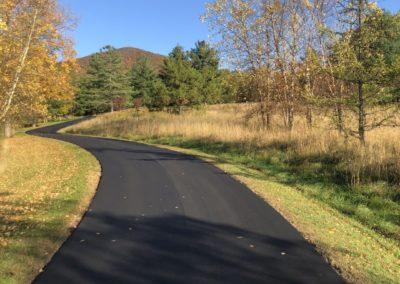Long Asphalt Driveway