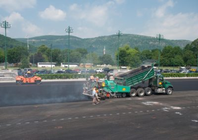 Laying Asphalt for West Point Military Academy Tennis Courts